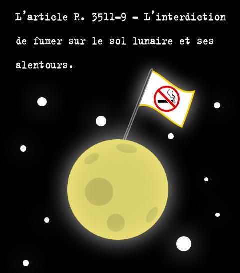 Fumer sur la lune sera bientôt interdit en France.