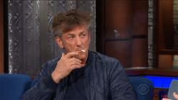 La cigarette de Sean Penn sur un plateau de télé américain !